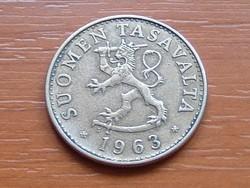 FINNORSZÁG 50 PENNIA 1963  S