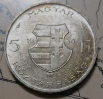EZÜST 5 Ft 1946 VERDEFÉNYES