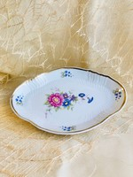Hollóházi porcelán tál, 18 cm, Hajnalka mintás
