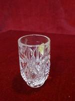 Ólomkristály likőrös pohár, Kalhammen Hülle , 24 %-os, hat darabos.