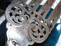Csodaszép antik ezüstözött hús vagy halas villa