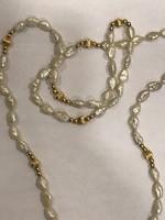 Arany női gyöngysor