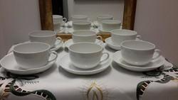 Fehér herendi teás csészék+alj