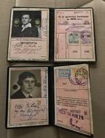 2db 1942-es Magyar Királyi Vasutak igazolvány + nyaraláshoz félárú retúrjegy 1937!