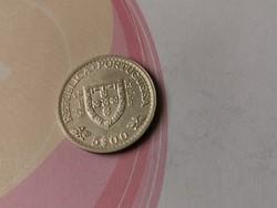 1960 portugál ezüst 5 escudo 7 gramm 0,650 ritkább