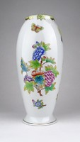 0Y678 Viktória mintás Herendi porcelán váza 22 cm