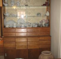 Sokfiókos art deco patikai szekrény vitrin gyógyszertári vitrin loft