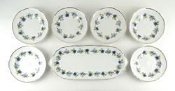 0Y670 Hollóházi porcelán süteményes készlet 7 db