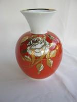 Wallendorf porcelán rózsás váza