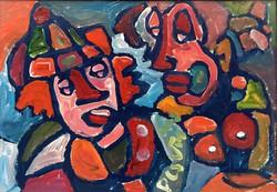 """Németh Miklós ( 1934-2012 ) """" Bohóc páros 2003.. !!"""