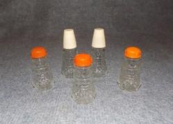 Retro só- bors- paprikaszóró olaj- és ecettartó készlet 5 db (5/d)