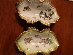 Viktoria mintás Herendi porcelán bon-bon-os tálak