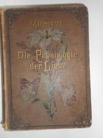 """Die Physiologie der Liebe"" német könyv 1885, Dr. Herzl Izidor ügyvéd pecsétjével"