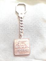 Ezüst Generali kulcstartó Gravírozható névre