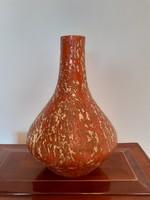 Retro Tófej kerámia váza 20 cm