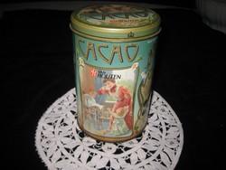 Holland kakaós fém doboz   10 x 15 cm