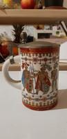 Porcelán Ónfedeles Kupa.16cm.