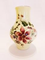 Új, Zsolnay Kézzel festett Orchideás Váza. Hibátlan!