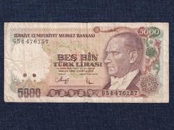 Törökország 5000 Líra bankjegy 1970 / id 13036/