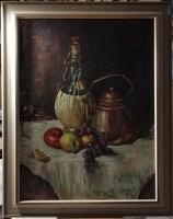 Huble - kvalitásos, asztali csendélete, hatalmas méretben ( 76 x 96 cm )