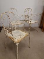 Antik régi vas kerti székek