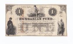 1 dollár 1852 A Kossuth bankó
