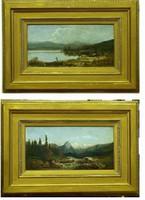 Ifj.Kölber Fülöp ?: Alpesi tájkép pár /1886 /