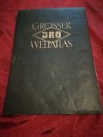 Grosser Jro Weltatlas 1958-  Nagy világatlasz német nyelvű