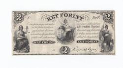 Kossuth 2 forint 1852 ,Sor F két ezüst forint