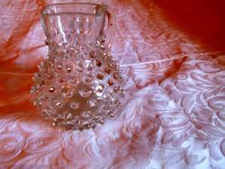 Antik bütykös fújt üveg keresztelő kancsó