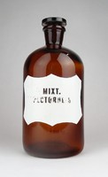 0Y741 Antik MIXTURA PECTORALIS patika üveg 22.5 cm