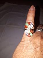 Köves ezüst gyűrű 925