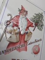 Karácsonyi fémdoboz mikulásos doboz