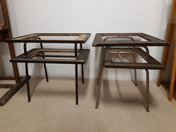 Retro régi csővázas asztal 2 db felújítandó