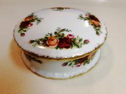Royal Albert Old Country Roses ékszertartó fedeles doboz