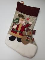 Karácsonyi kandalló zokni mikulásos téli dekoráció 40 cm