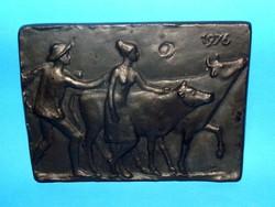 Antik szignált Bronz kisplasztika