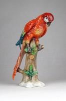 0W515 Régi Sitzendorf porcelán papagáj
