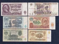 Szovjetunió 6 darabos rubel bankjegy szett / id 13039/