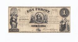 Kossuth 1 forint 1852 ,Sor D egy ezüst forint.