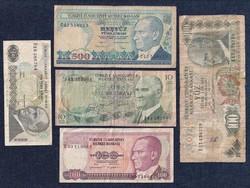 Törökország 6 darabos líra bankjegy szett / id 13037/