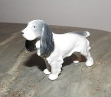 METZLER & ORTLOFF Spániel kutya porcelán - jelzett, ritka darab