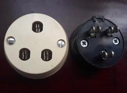 Retro telefon konnektor és konvertaló dugvilla kétféle kimenettel (2 db)