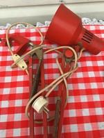 Piros retro állítható magasságú teleszkópos íróasztal vagy műhely lámpa
