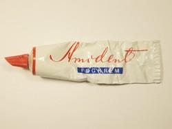 Retro AMODENT fogkrém fém tubus - KHV Kozmetikai és Háztartásvegyipari Vállalat - 1970-es évekből