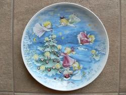 Porcelán dísztányér karácsonyi