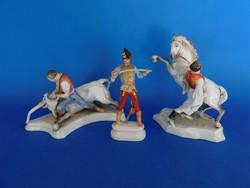 Herendi Toldi bikával+ Hadik huszár + lovat fékező