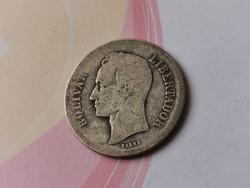 1919 Venezuela ezüst 1 bolivar 5 gramm 0,835