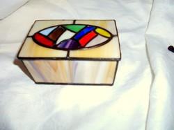 Tiffany technikával olomüveg egyedi doboz