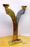 ArtDeco különlegesség, bronz, magnézium-ötvözet gyertyatartó. Modern home design